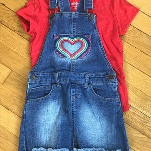 Cat and Jack overall skirt! Super cute rainbow